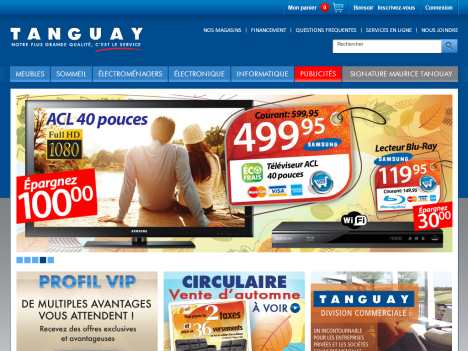 Ameublement tanguay official website for Site ameublement